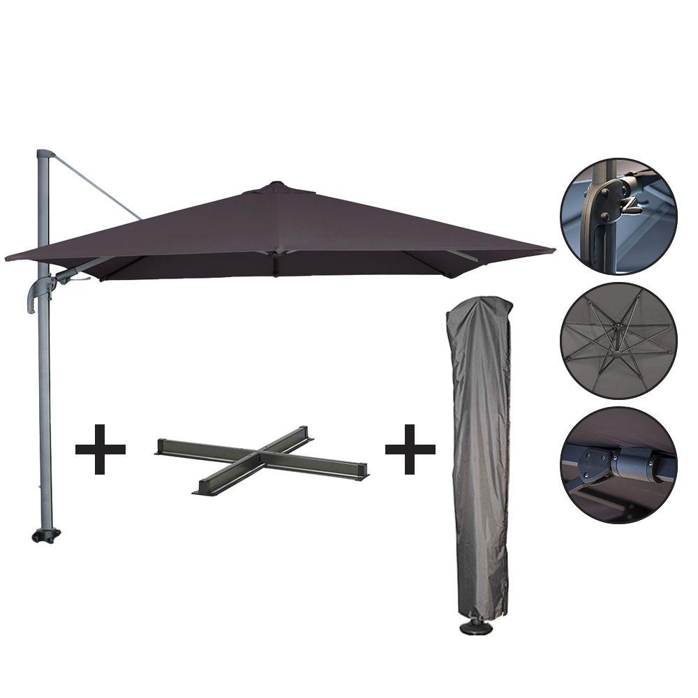 Ensemble parasol + pied + housse