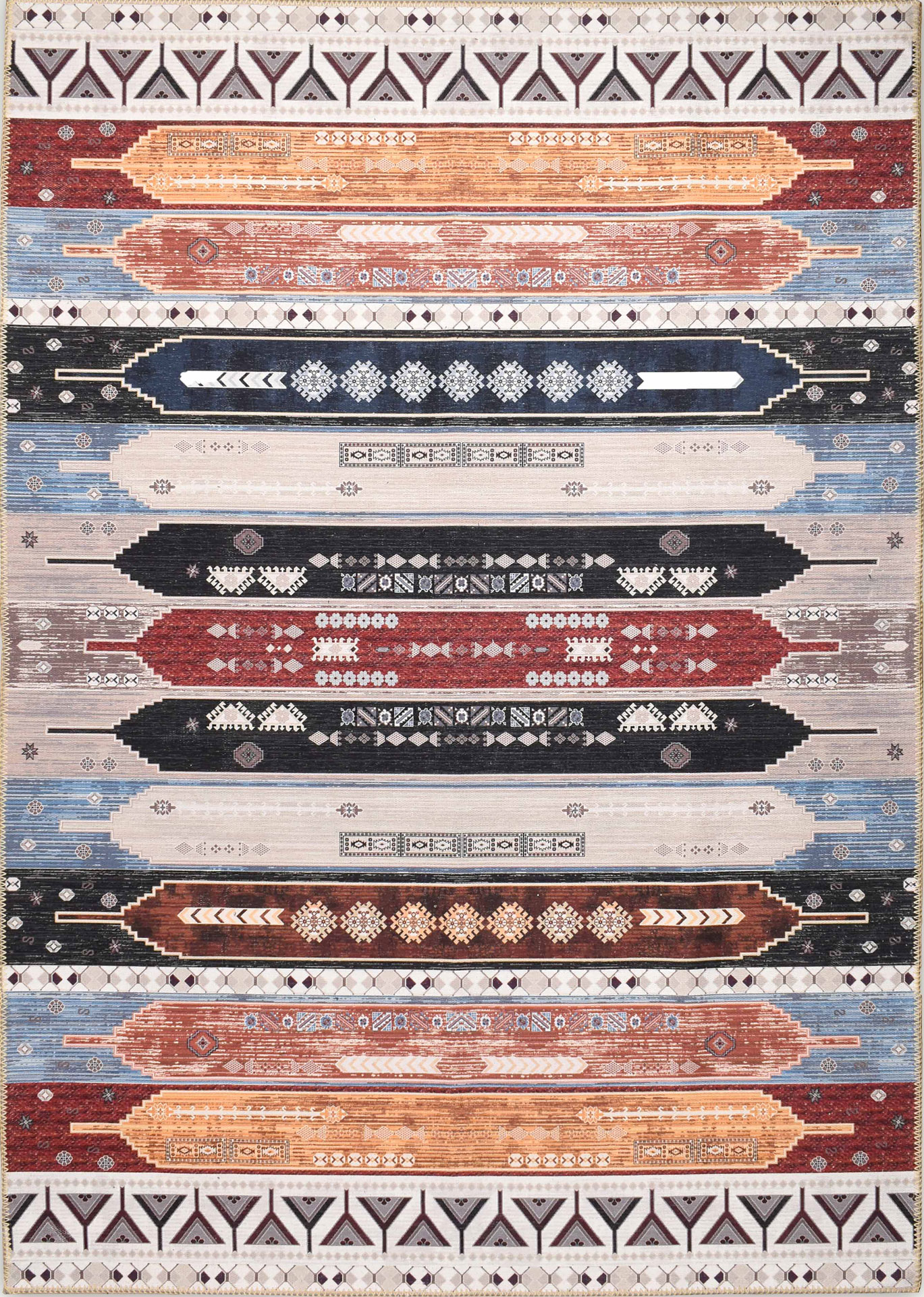 Tapis vintage lavable en machine multicolore 200x290