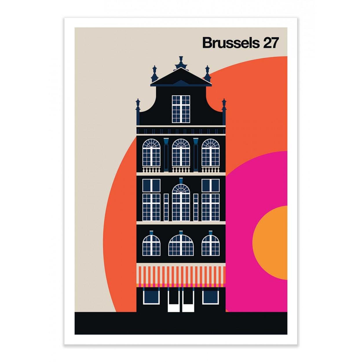 BRUSSELS 27 -  Affiche d'art 50 x 70 cm