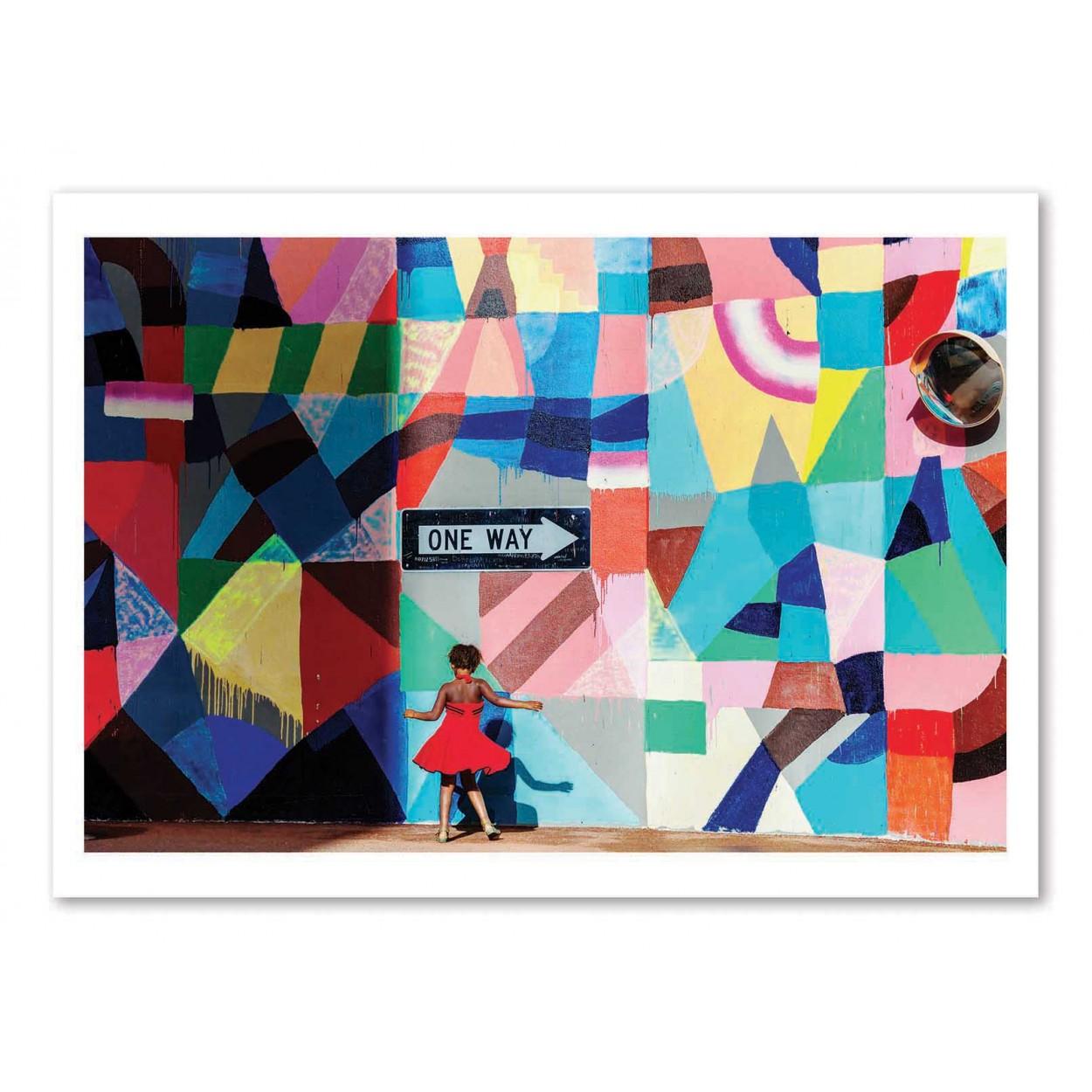 ONE WAY - GLORIA SALGADO GISPERT -  Affiche d'art 50 x 70 cm