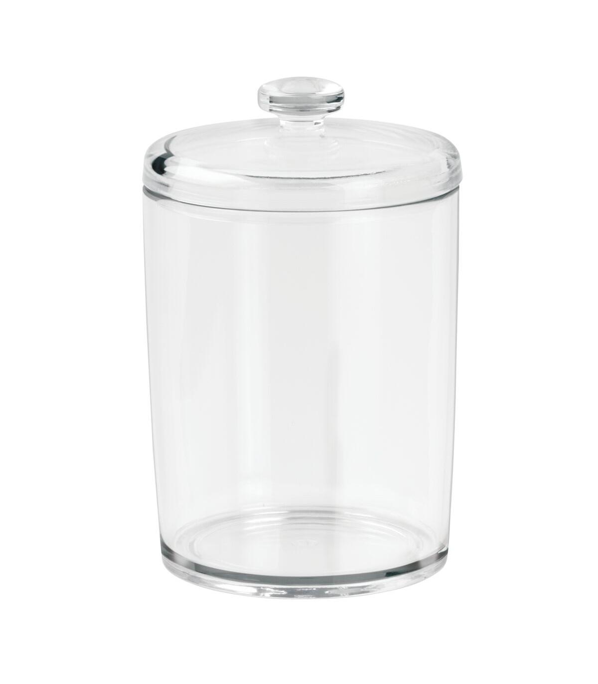 Boîte à coton avec couvercle - Transparent