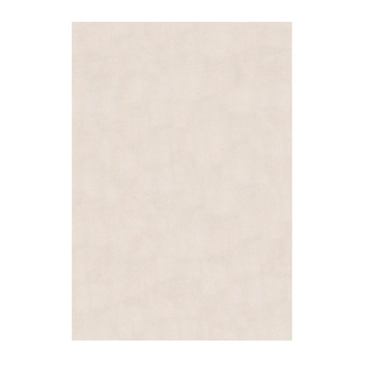 Tapis de salon moderne en Polyester Blanc cassé 80x150 cm