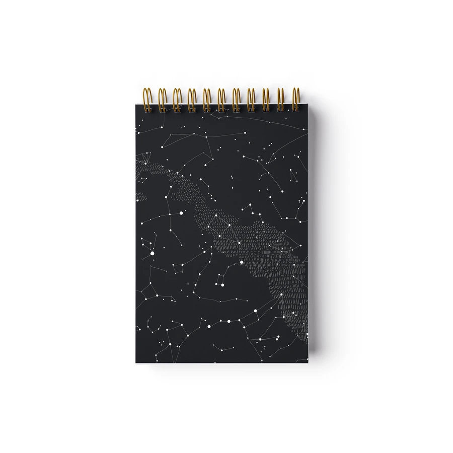 Petit carnet a spirales constellation