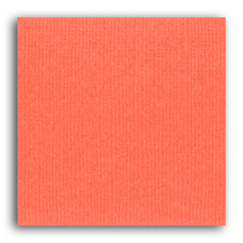 Papier scrapbooking Mahé Mandarine 30,5x30,5 cm