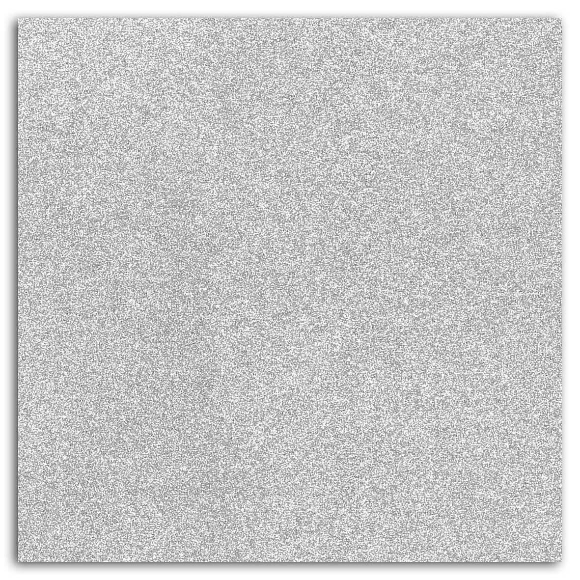 Papier adhésif pailleté Argent 30,5x30,5 cm