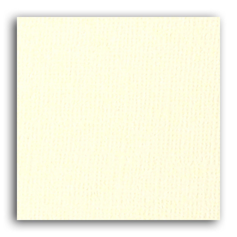 Papier scrapbooking Mahé Ivoire 30,5x30,5 cm