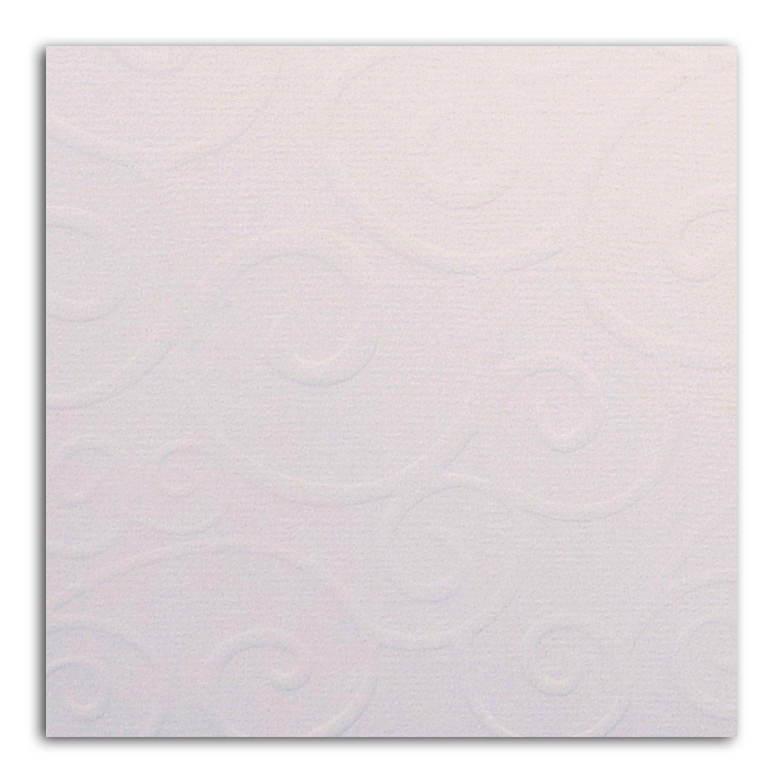 Papier scrap Mahé Blanc Embossé 30,5x30,5 cm
