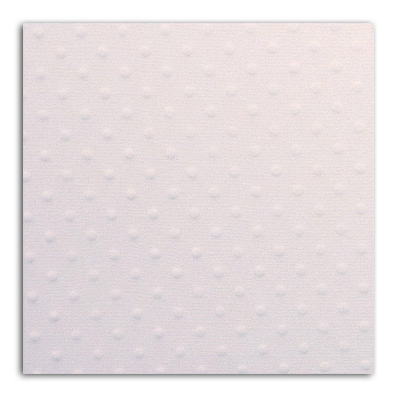 Papier scrap Mahé Pois Blanc Embossé 30,5x30,5 cm