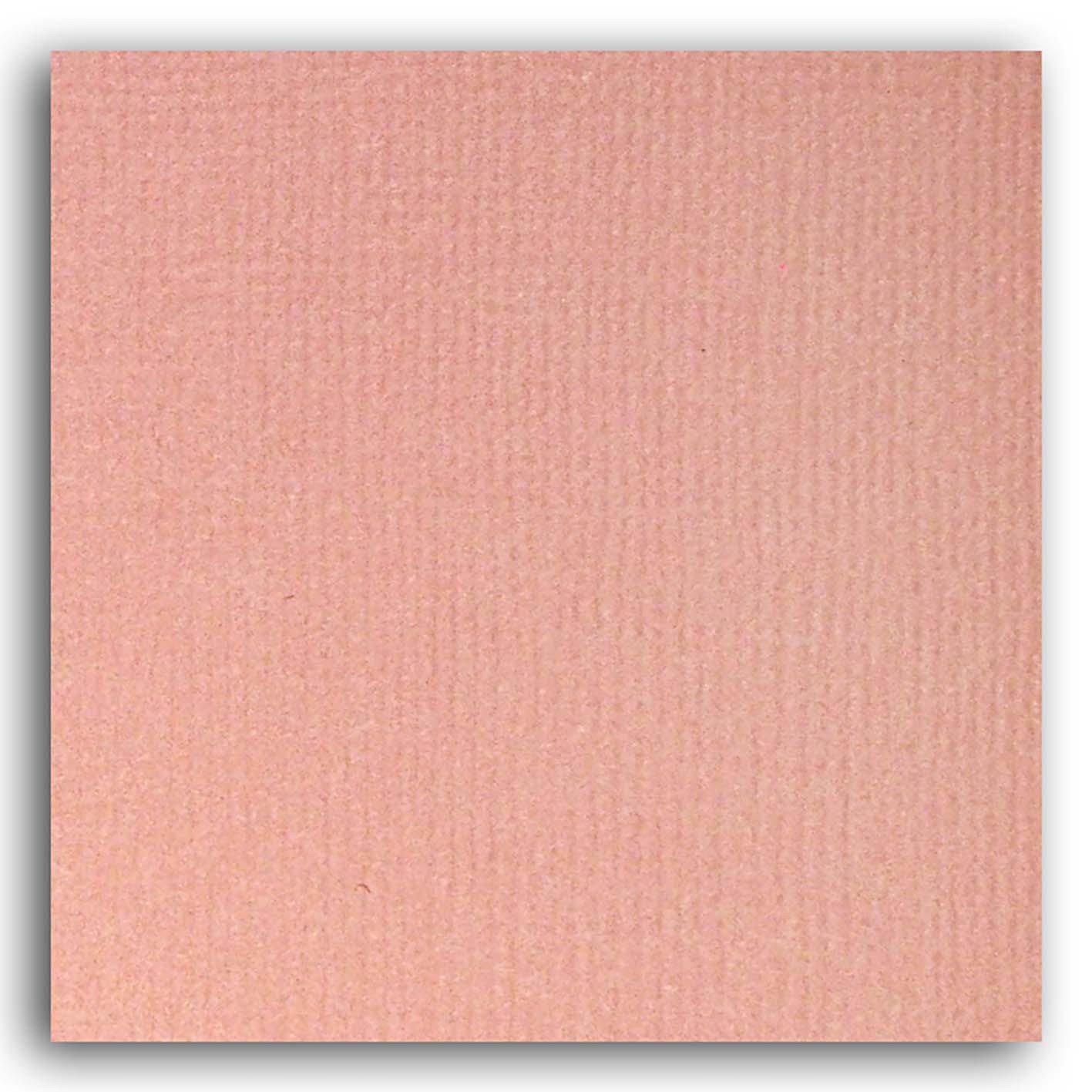 Papier scrapbooking Mahé Rose uni 30,5x30,5 cm