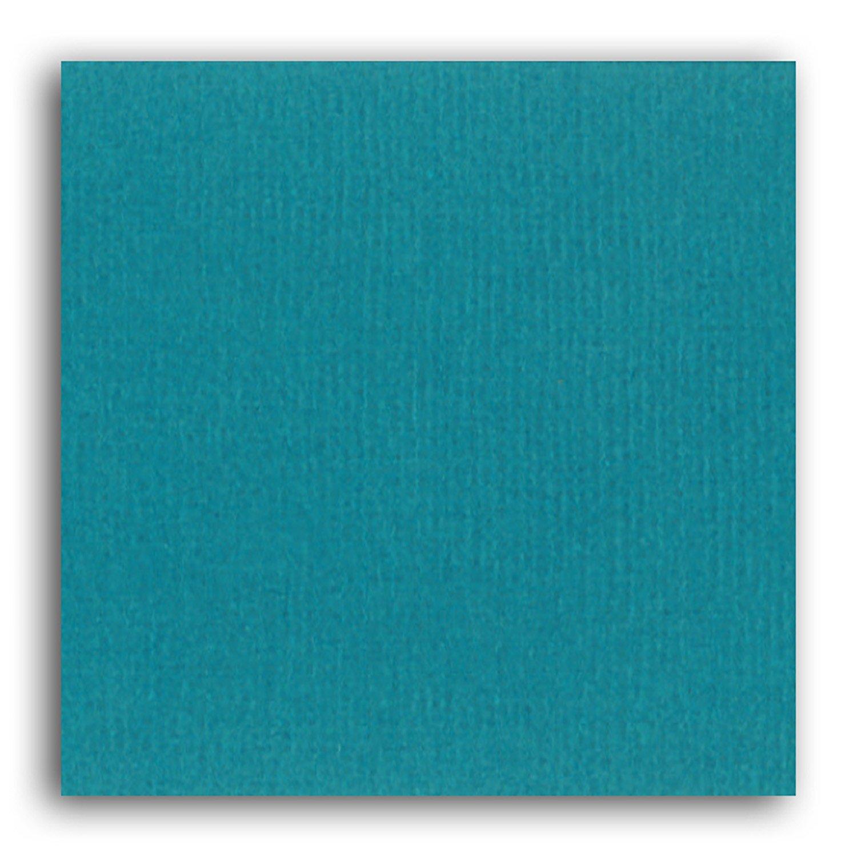 Papier scrapbooking Mahé Bleu Pétrole 30,5x30,5 cm