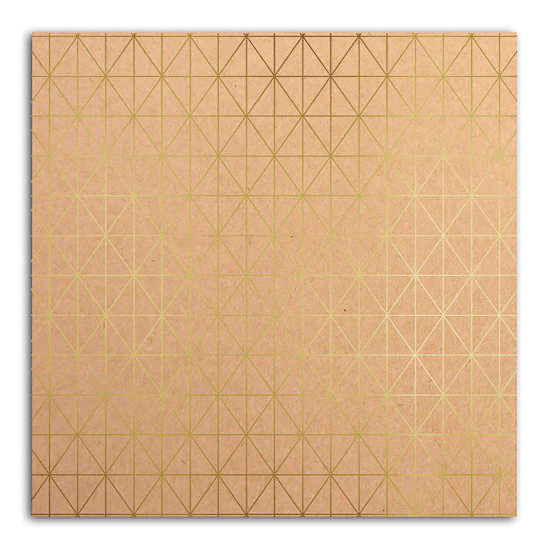 Papier scrapbooking Mahé Kraft Or 30,5x30,5 cm
