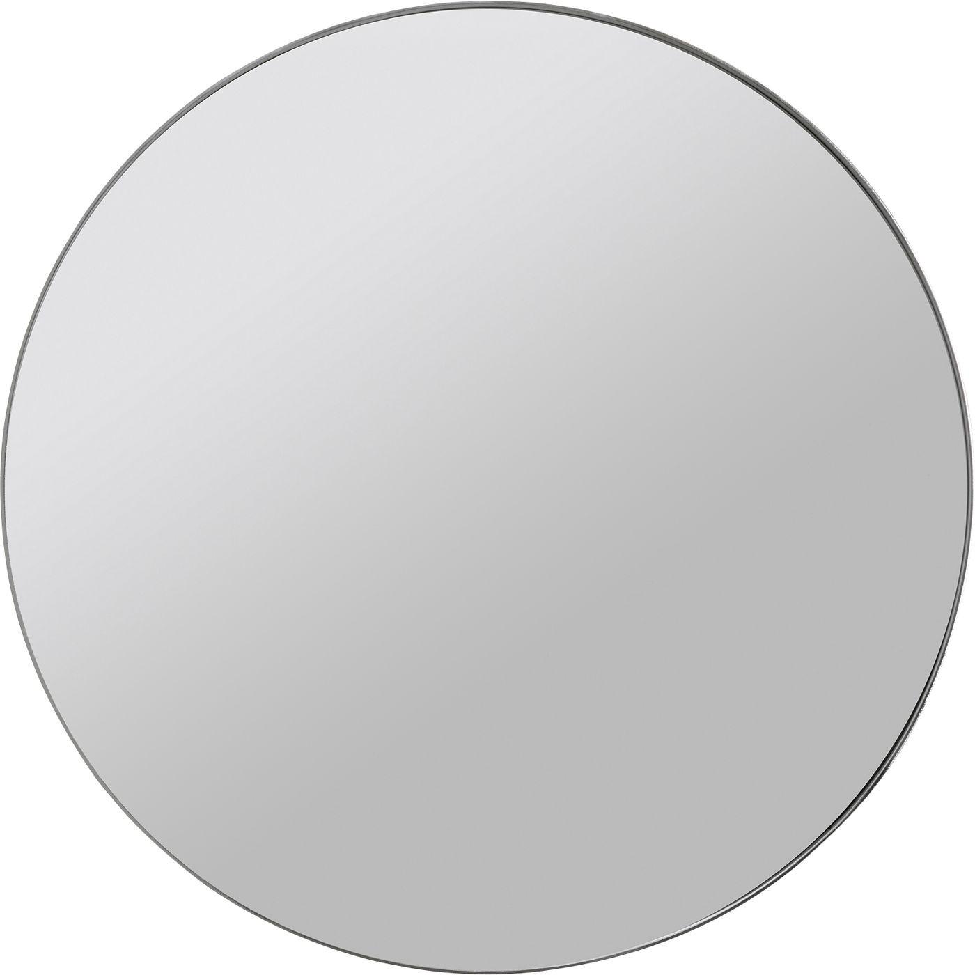 Miroir rond en métal chromé D100