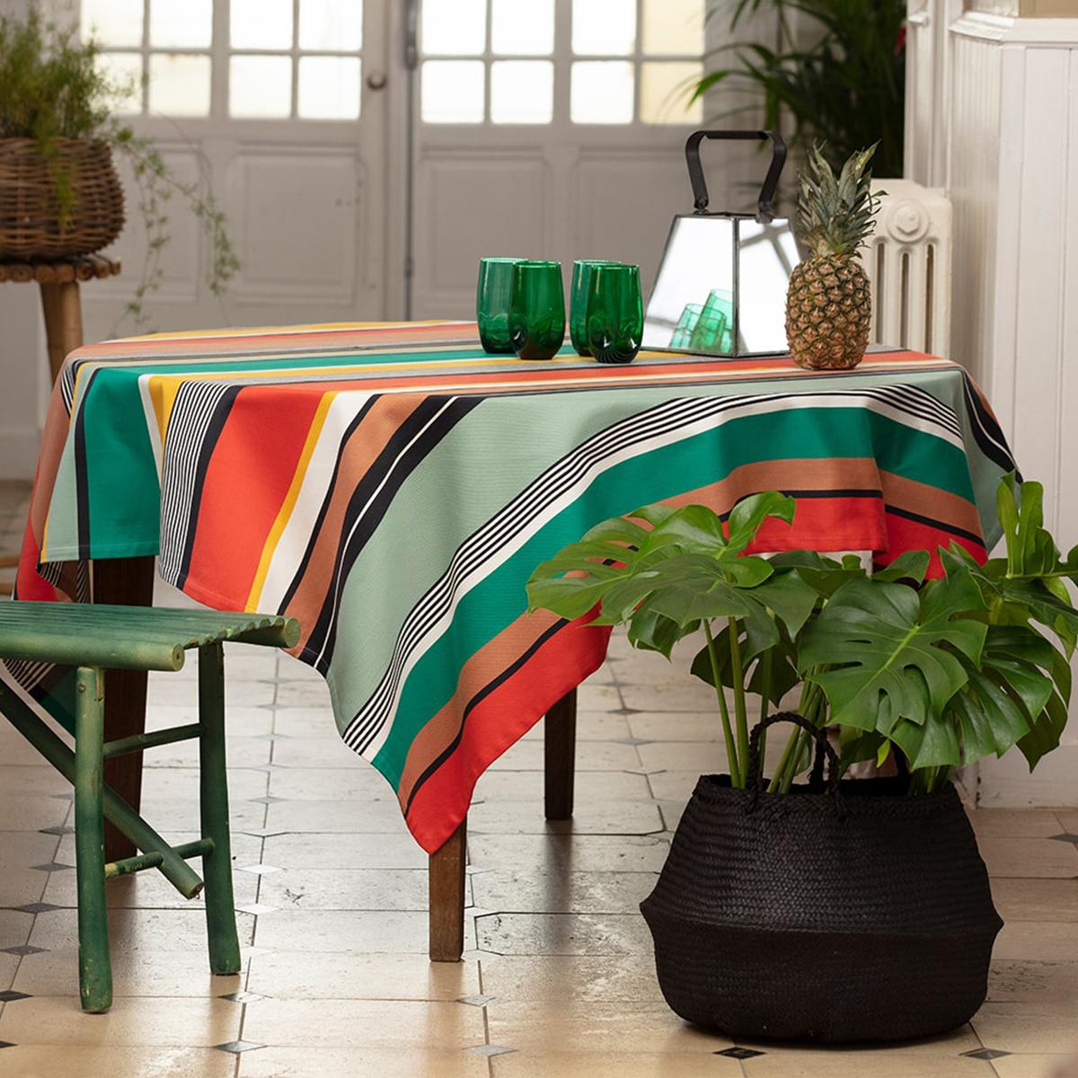 Nappe enduite multicolore 160x160