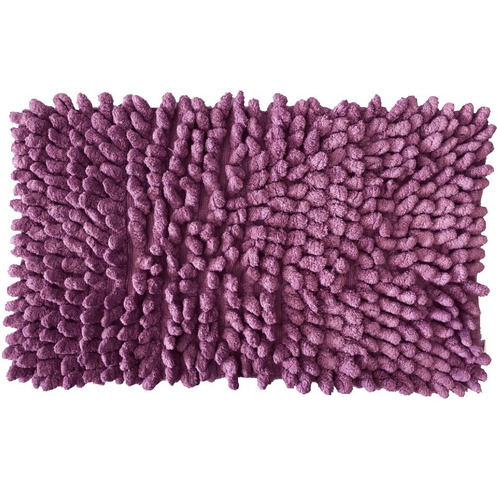 Carpette de bain figue en coton 50x80cm