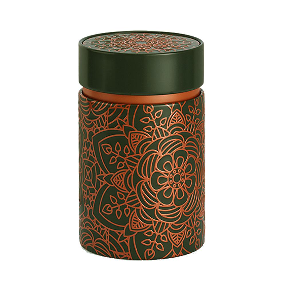 Petite boite fond gris pour le thé contenance 150g