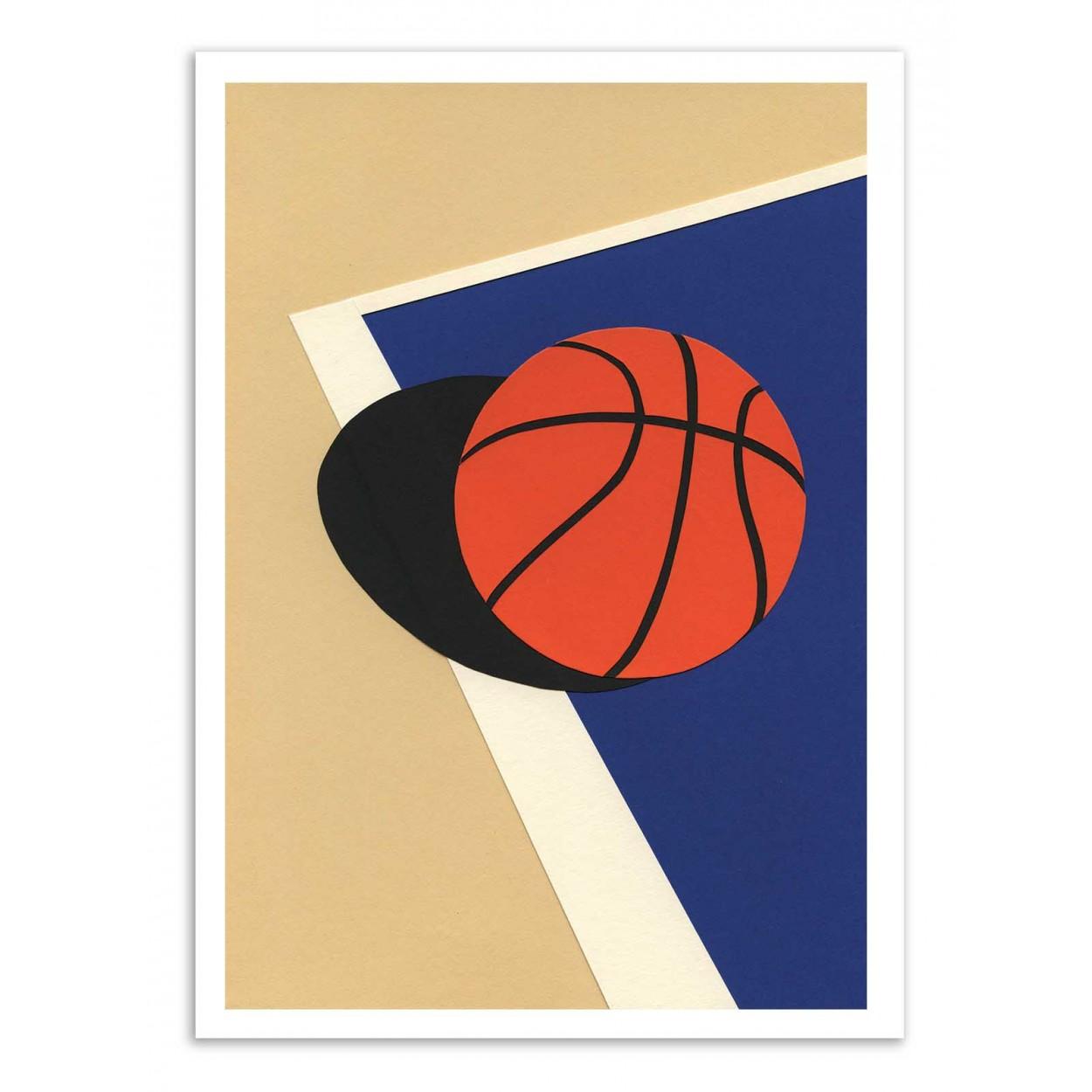 OAKLAND BASKETBALL TEAM VERSION 2 - Affiche d'art 50 x 70 cm