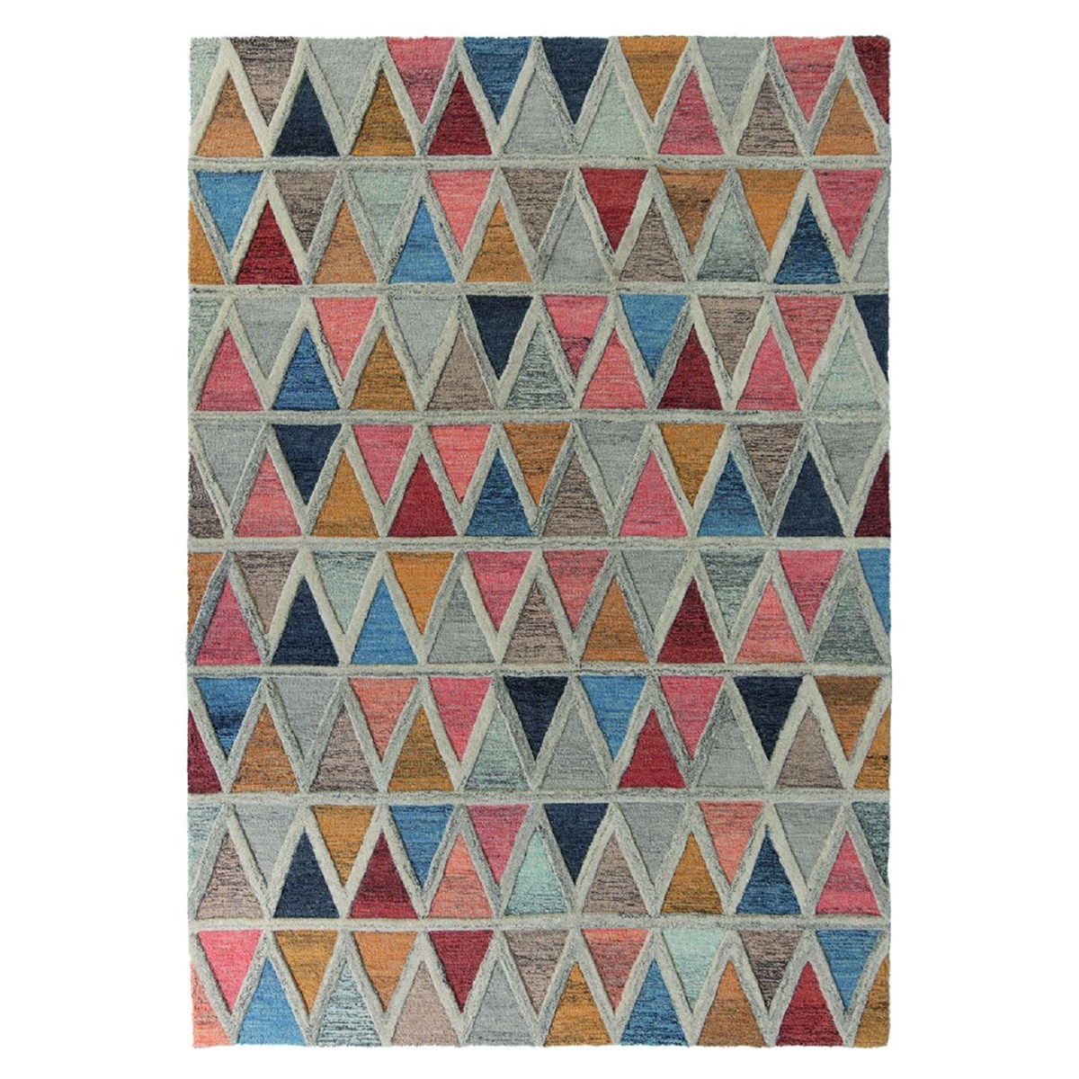 Tapis de salon moderne en Laine Multicolore 160x230 cm