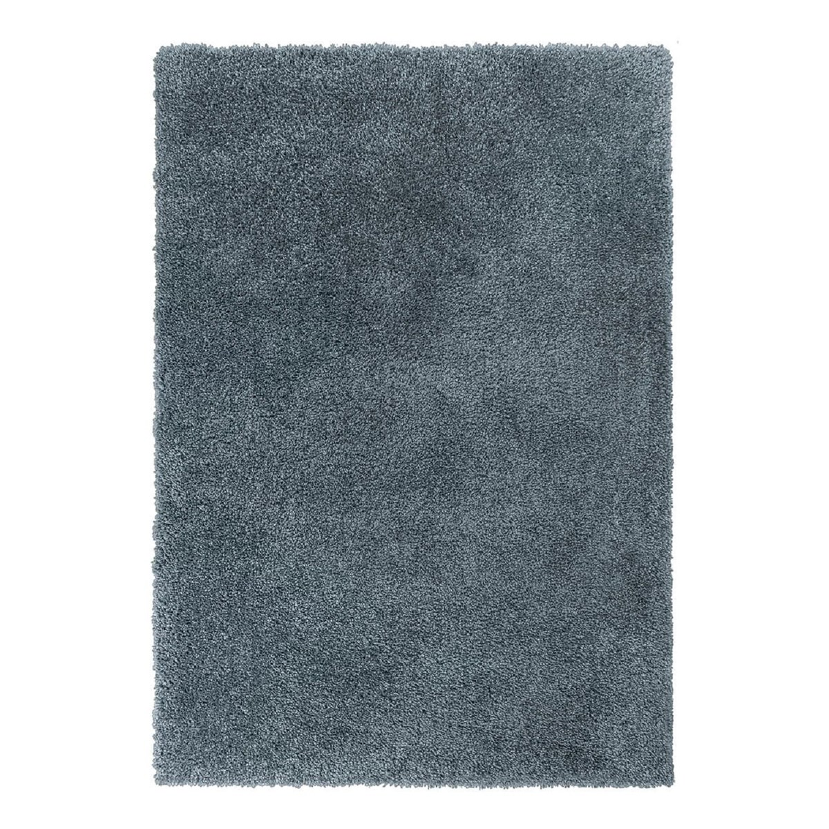 Tapis shaggy en Polyester Bleu 120x170 cm