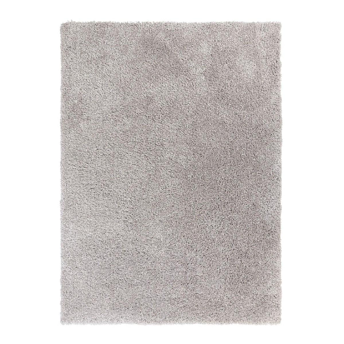 Tapis shaggy en Polyester Argent 80x160 cm