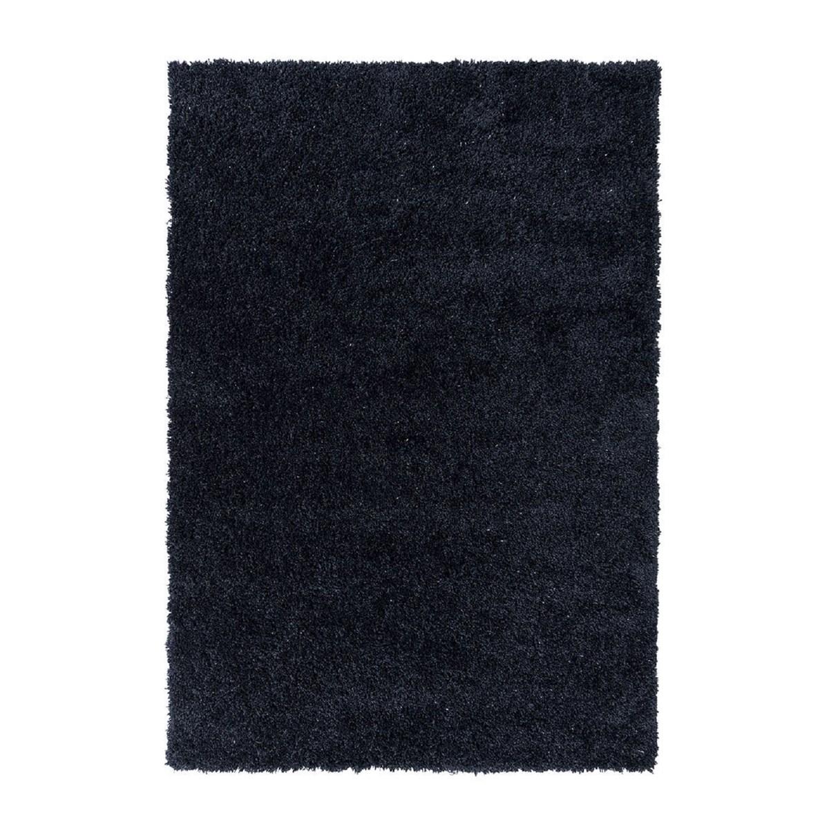 Tapis shaggy en Polyester Bleu nuit 120x170 cm