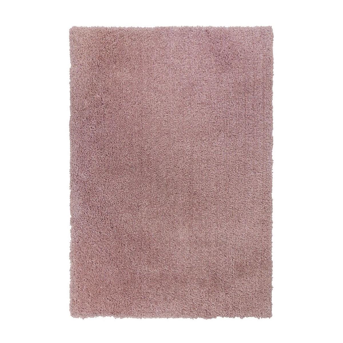 Tapis shaggy en Polyester Rose 80x160 cm