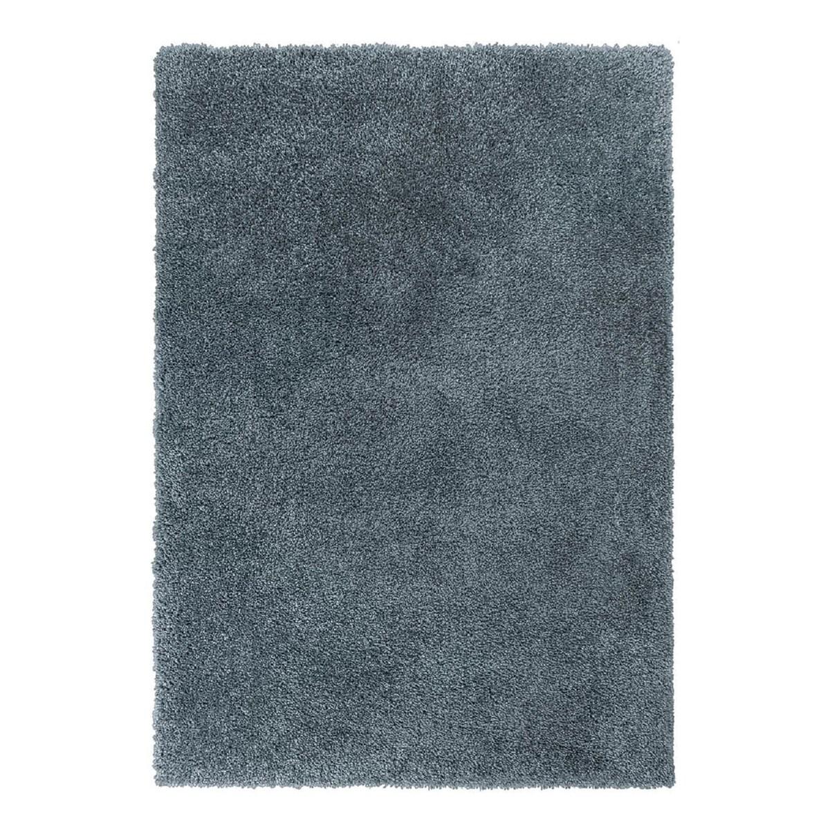 Tapis shaggy en Polyester Bleu 200x290 cm