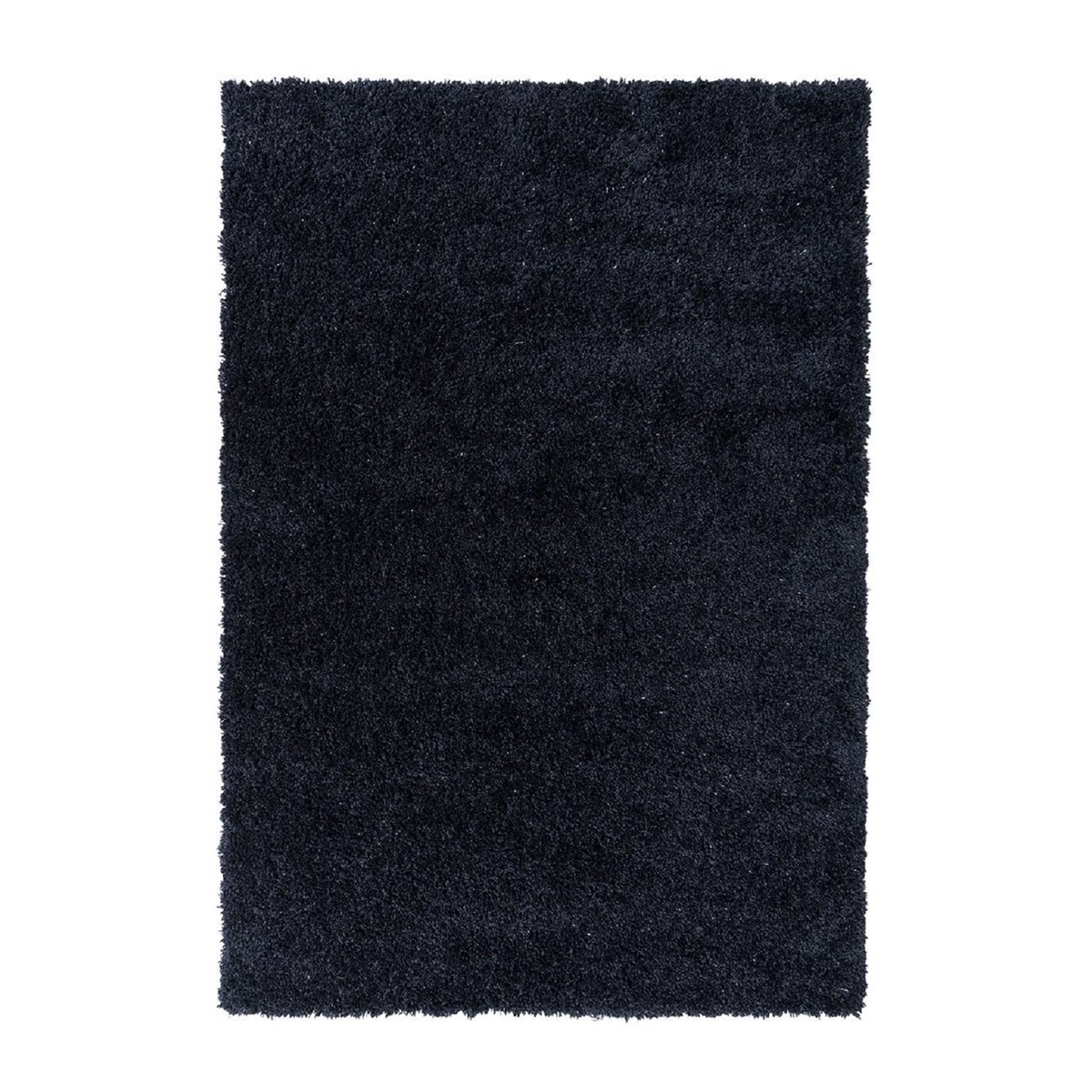 Tapis shaggy en Polyester Bleu nuit 80x160 cm