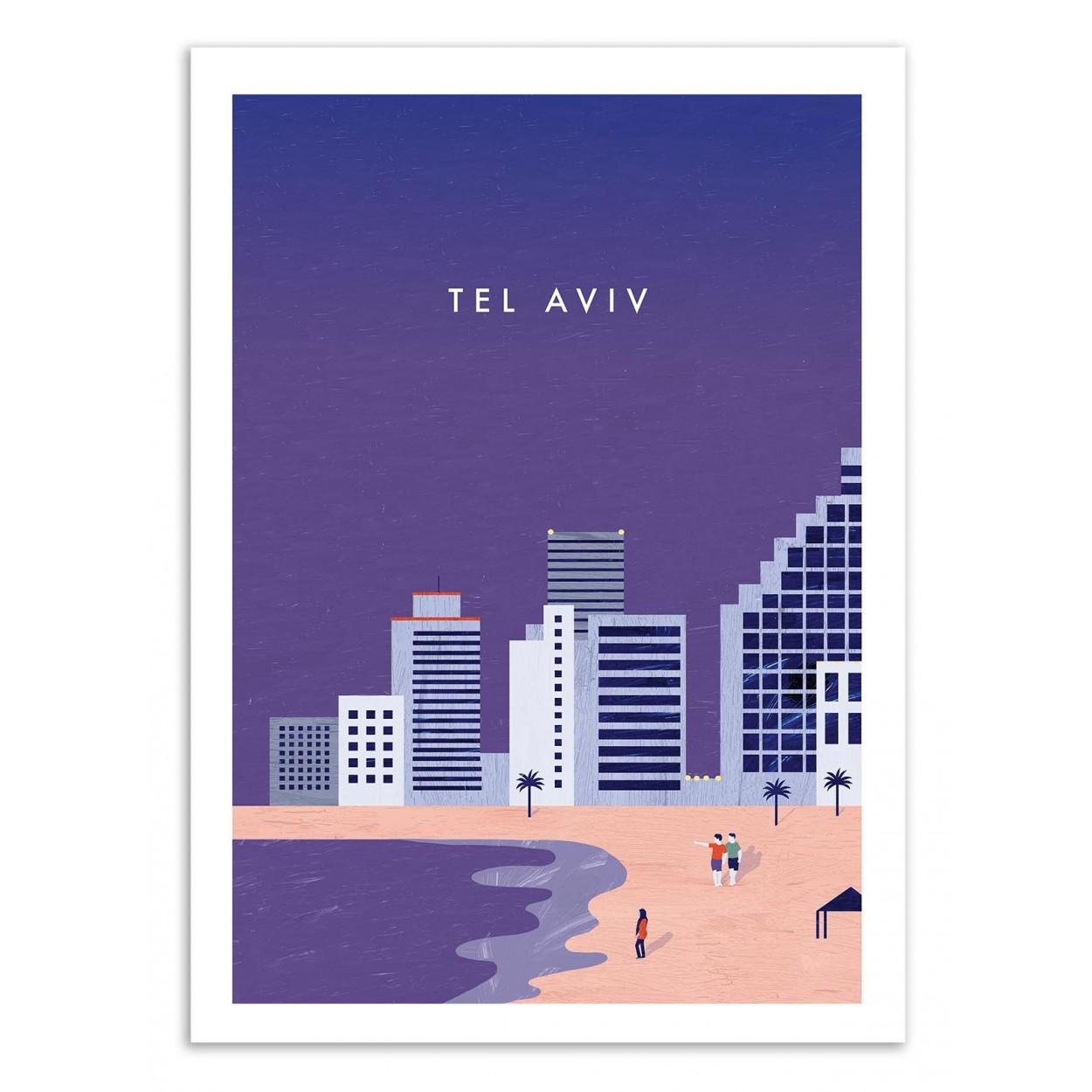 TEL AVIV - Affiche d'art 50 x 70 cm