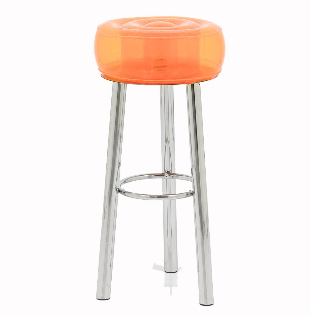 Tabouret de bar design orange