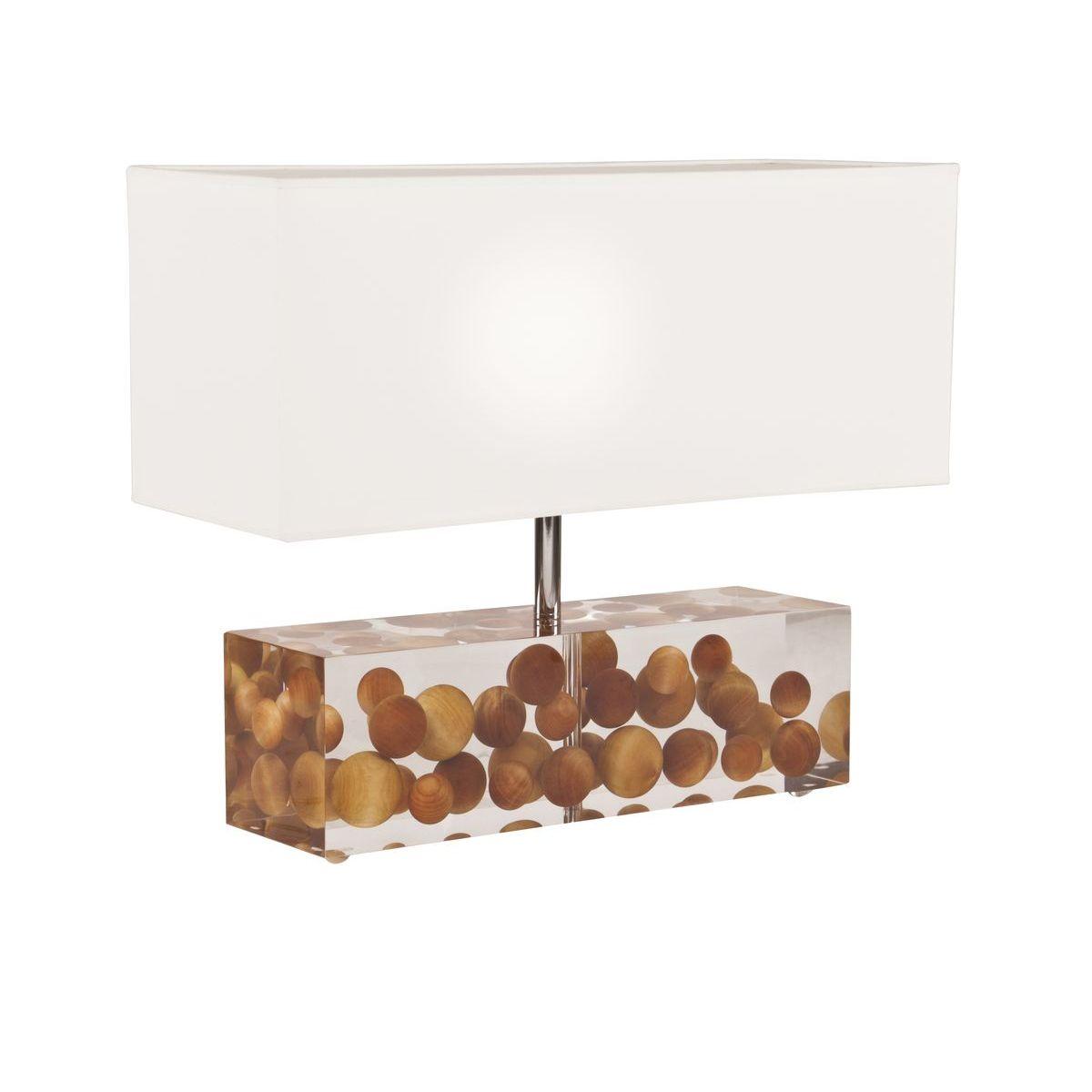 Lampe en plexiglass® avec boules de cèdre H60
