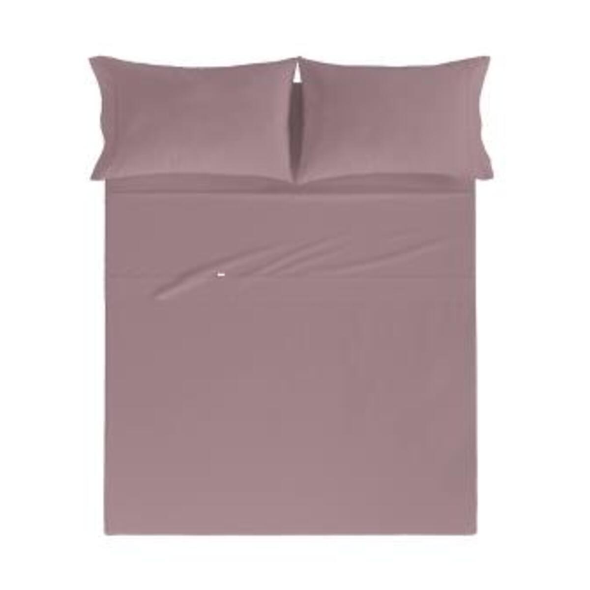 Drap de lit en coton percale mauve 250x280 cm