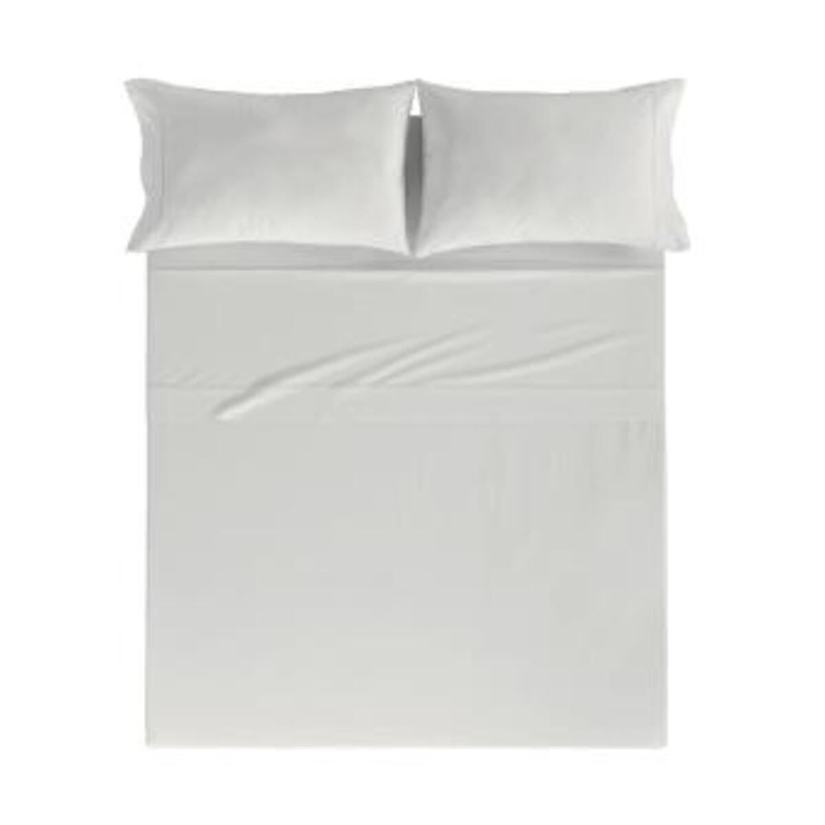 Drap de lit en coton percale gris 250x280 cm