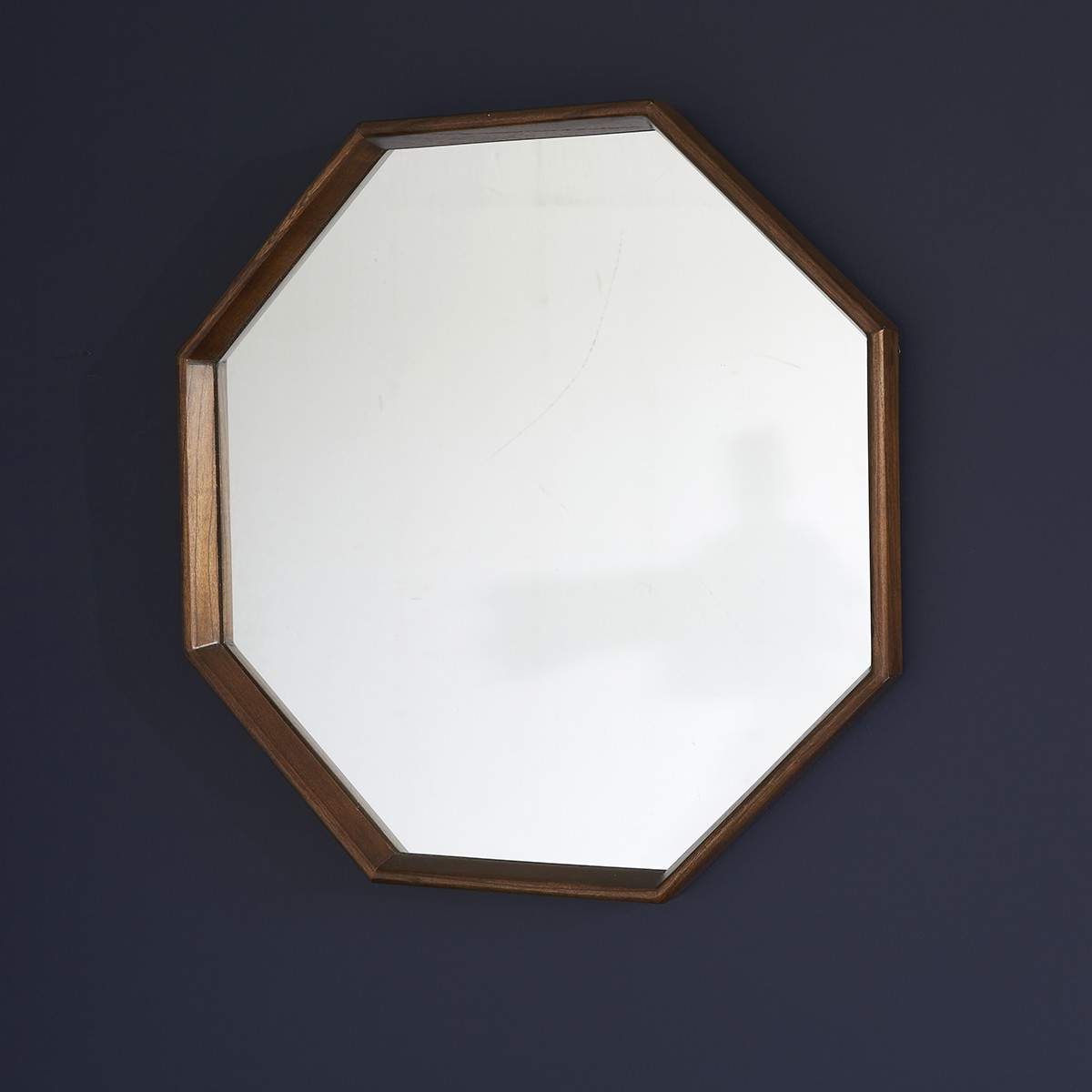 Miroir octogonal en bois de mindy D60