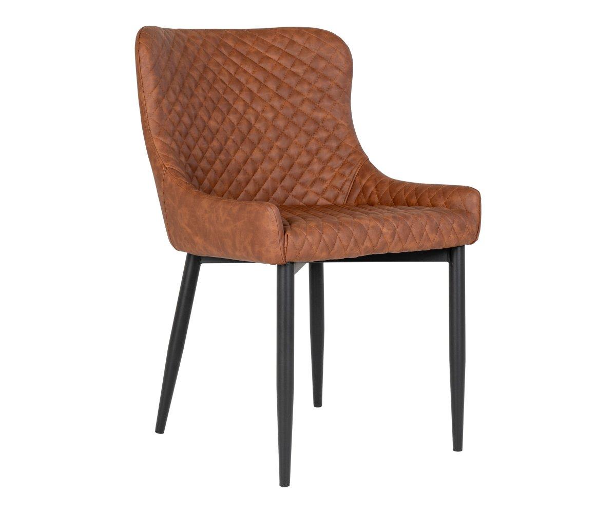 Chaise moderne en simili cuir avec accoudoirs