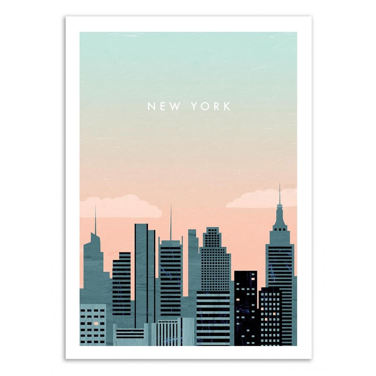 NEW YORK -  Affiche d'art 50 x 70 cm