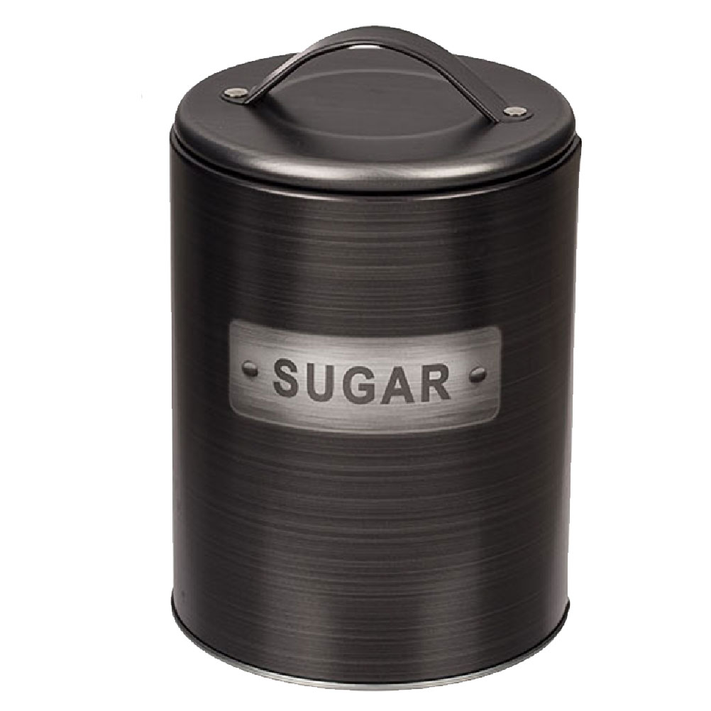 Boite à sucre cylindrique métallique