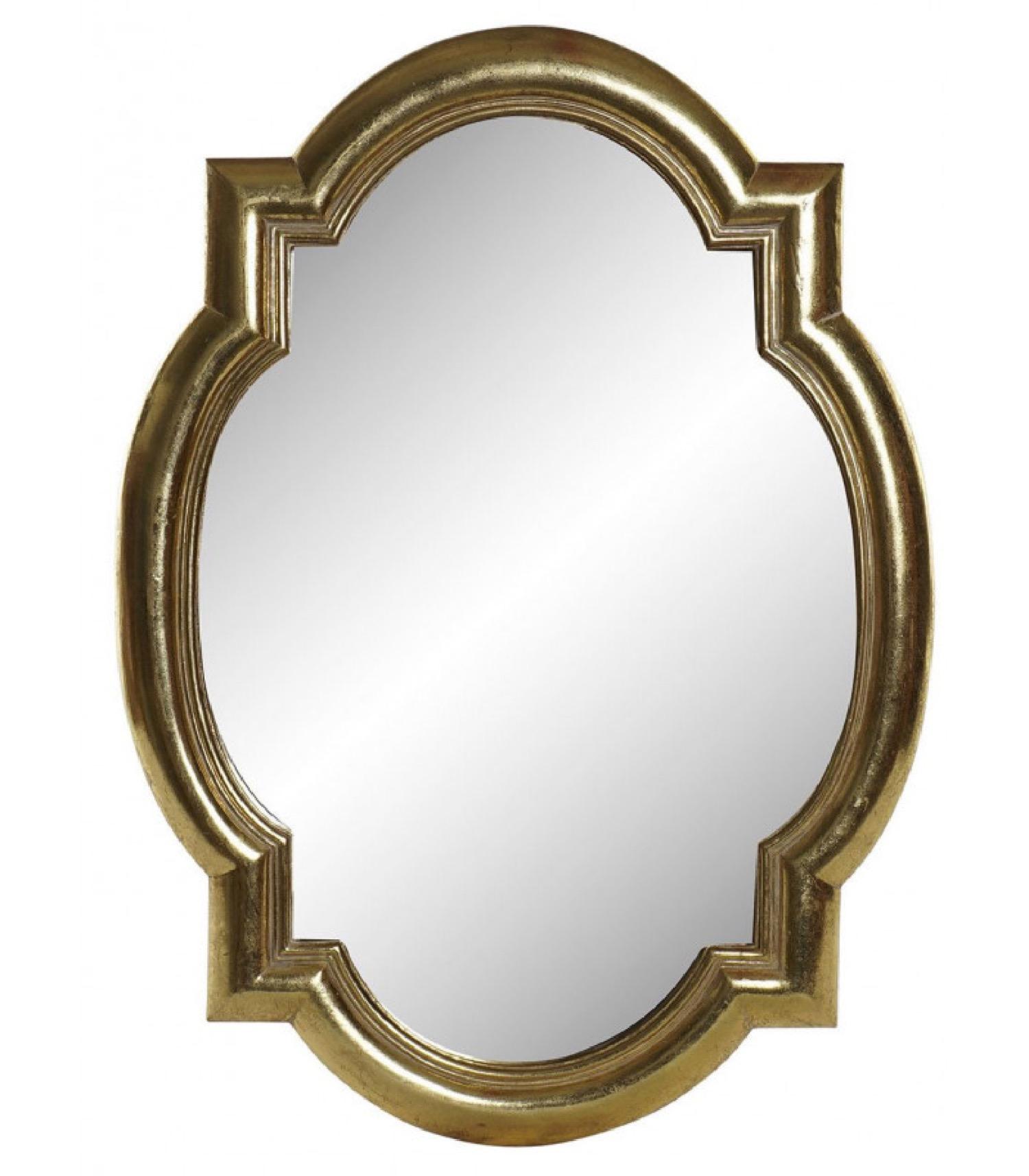 Miroir classique doré en résine 39x54