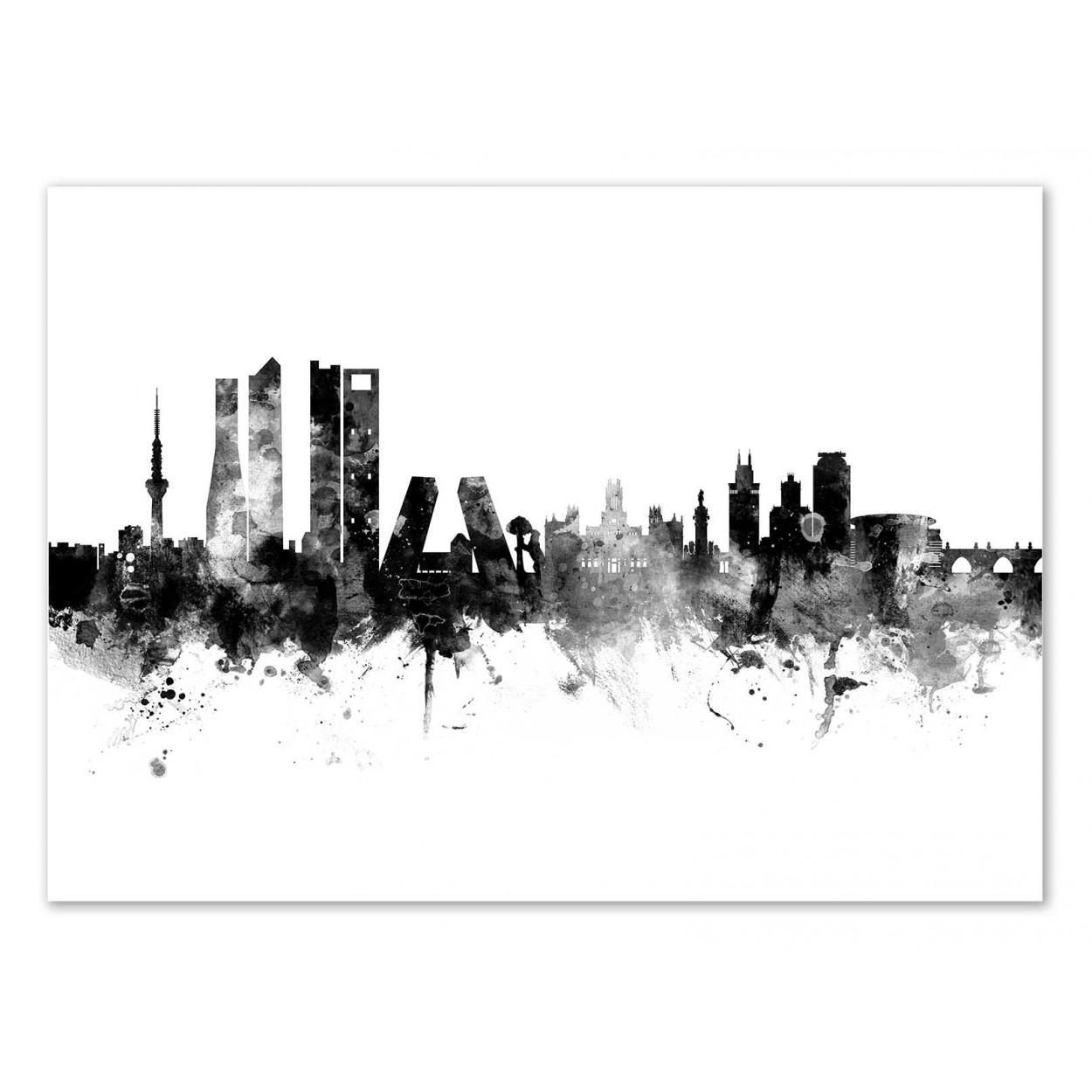 MADRID SPAIN SKYLINE -   Affiche d'art 50 x 70 cm