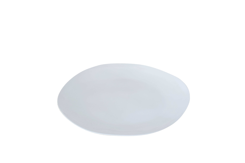 Assiette mélamine blanche D22cm