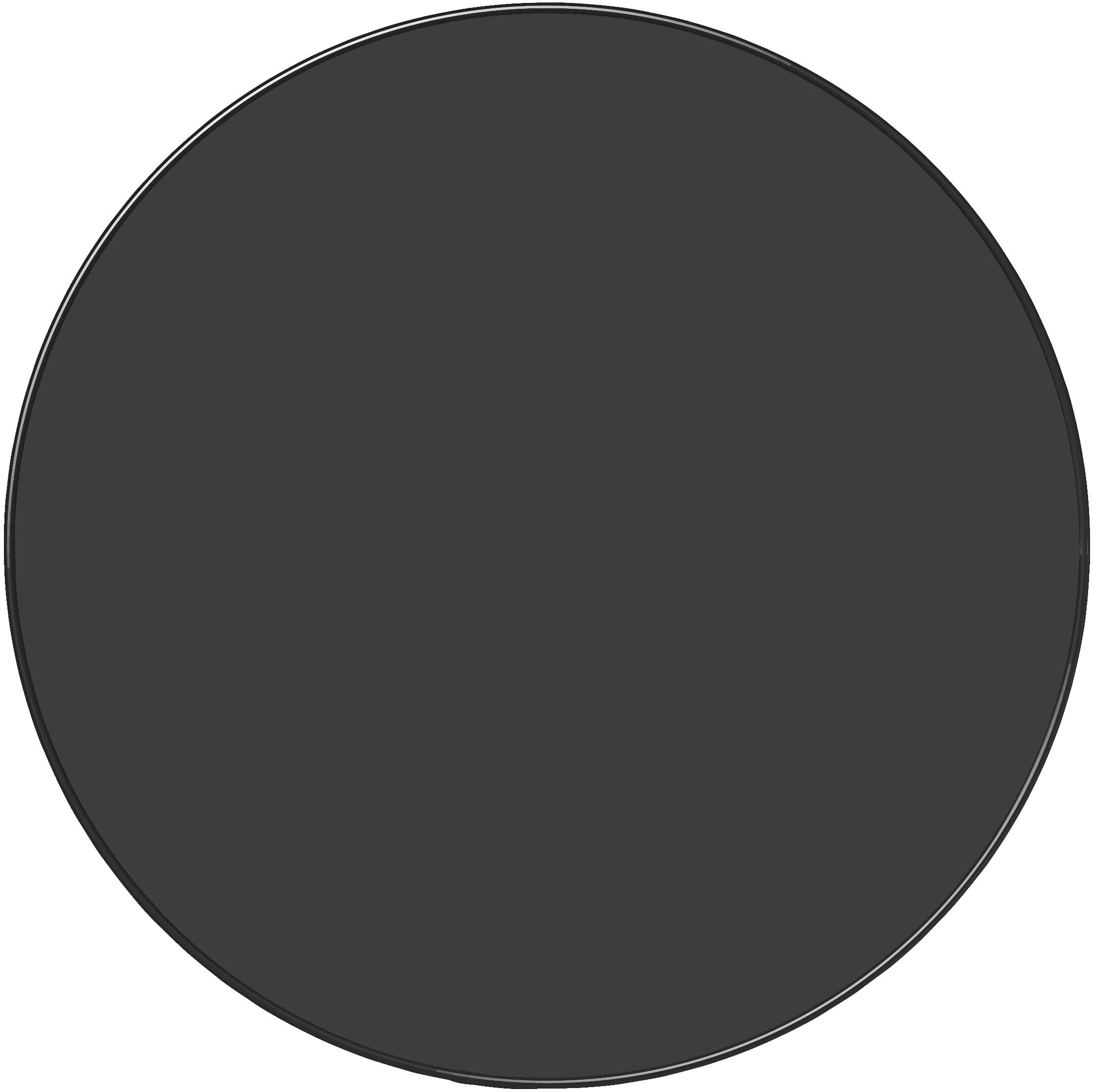 Plat rond noir D32cm