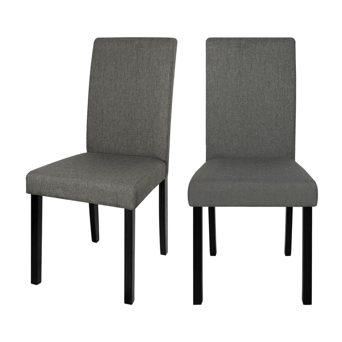Chaise en tissu gris (lot de 2)