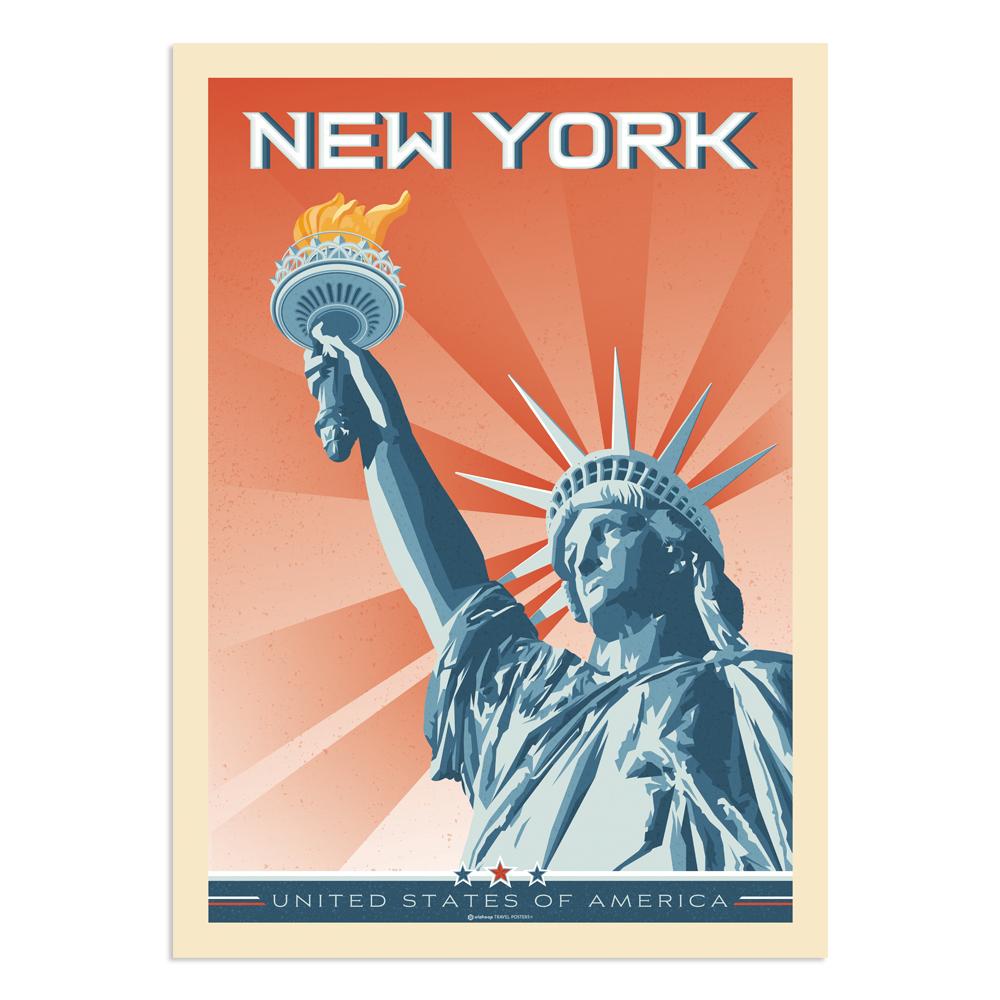 Affiche New York Statue de la Liberté 30x40 cm