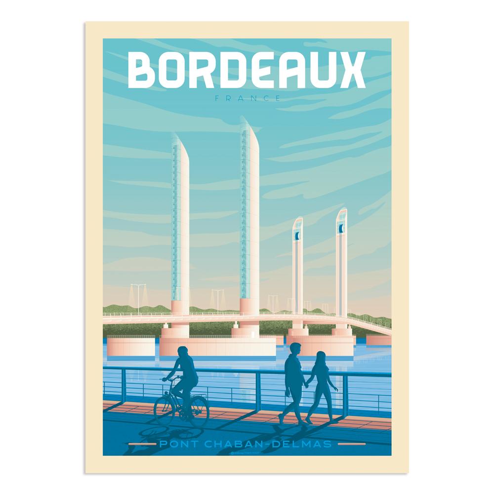 Affiche Bordeaux  30x40 cm