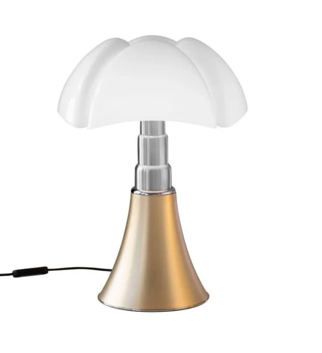 Lampe Dimmer LED pied télescopique or H50-62cm