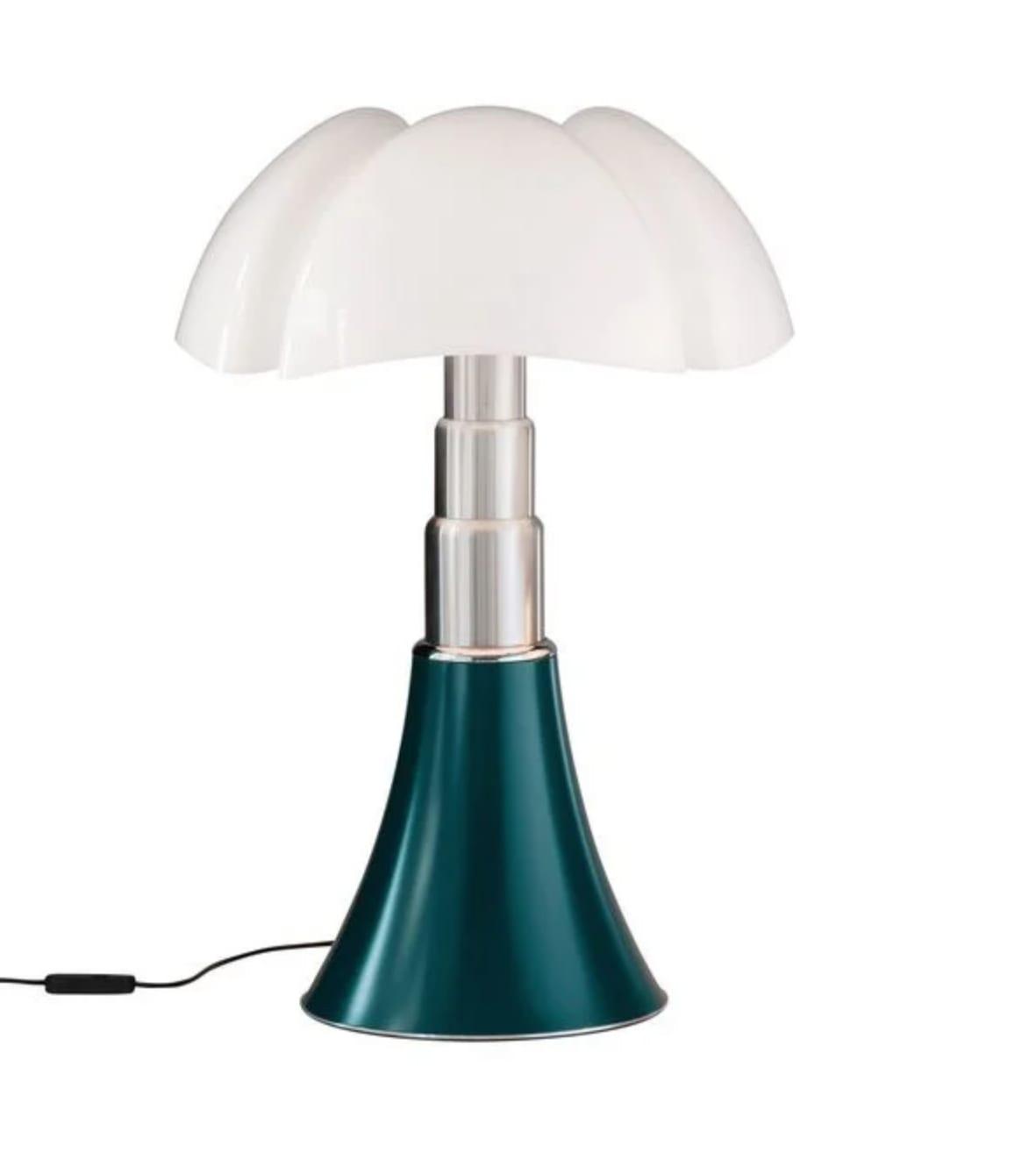 Lampe Dimmer LED pied télescopique vert H50-62cm