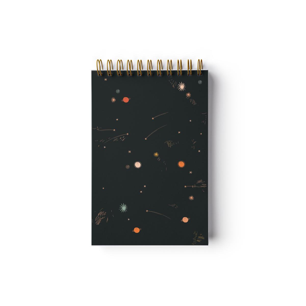 Petit carnet de notes etoiles filantes