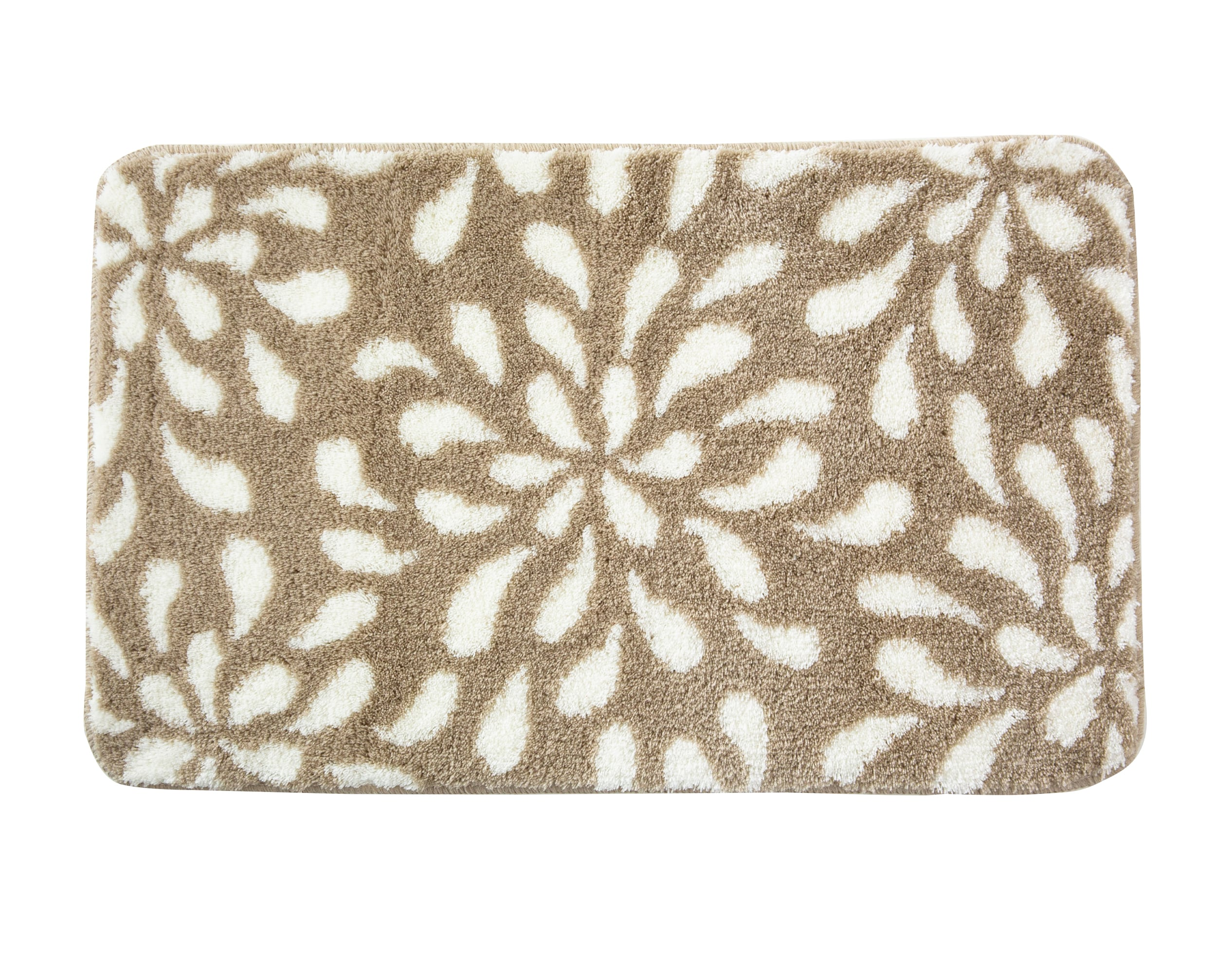 Tapis de bain beige 45x50 en polyester