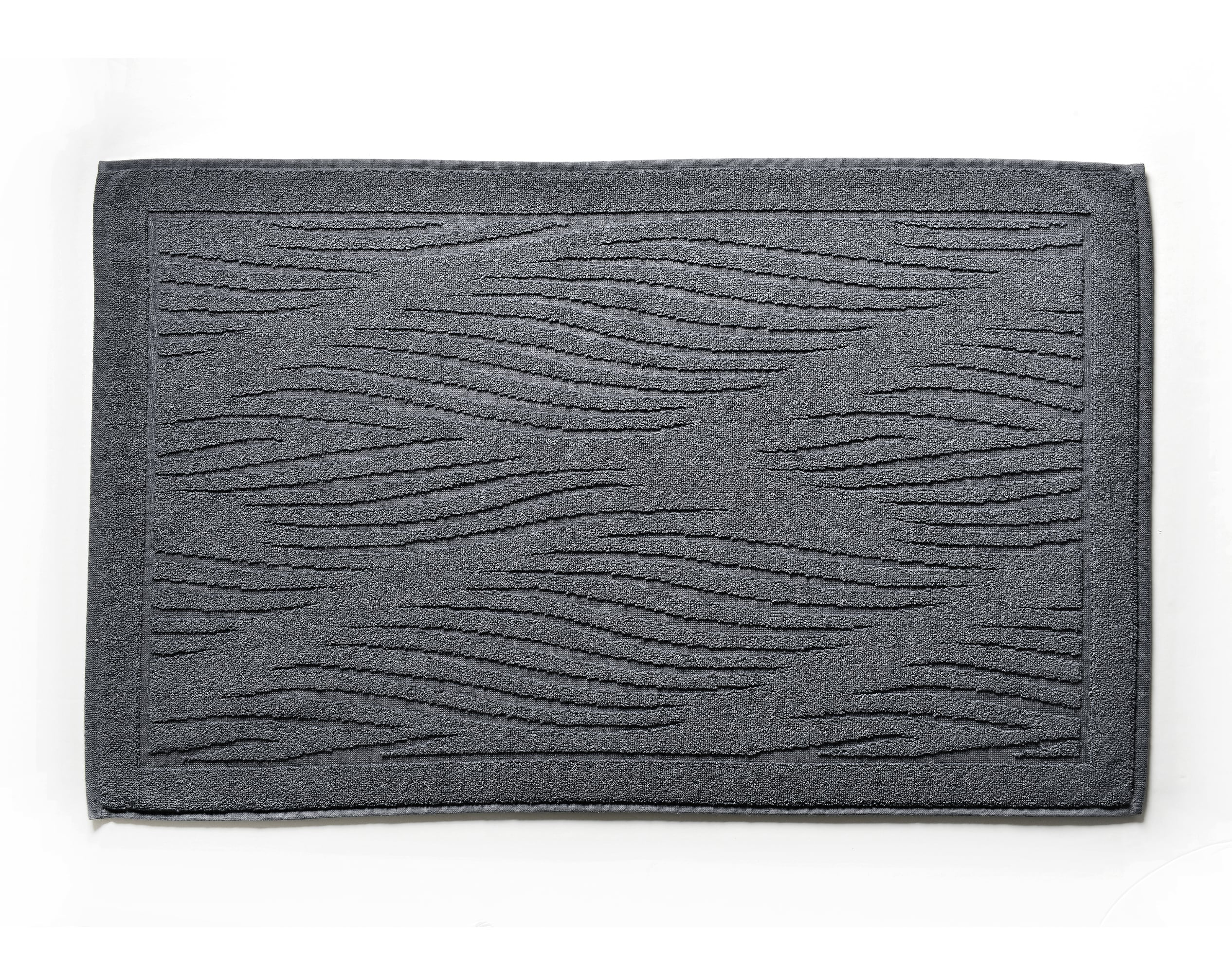 Tapis de bain gris anthracite 100x60 en coton
