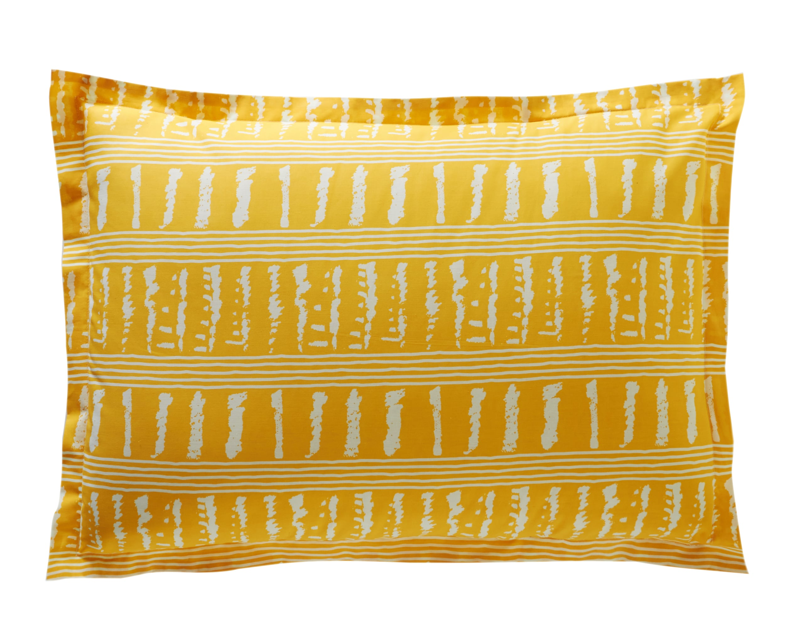 Taie d'oreiller rectangulaire en coton jaune