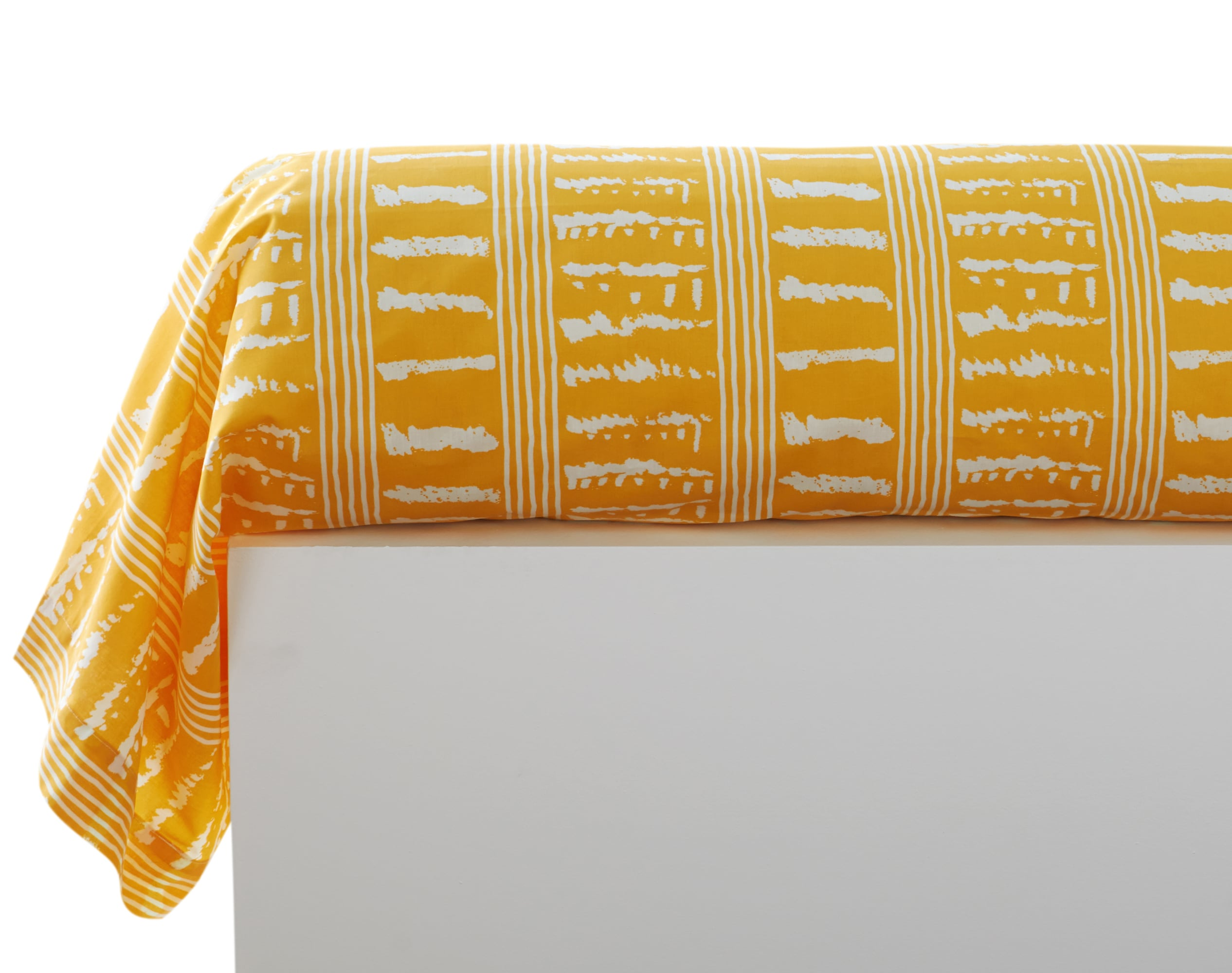 Taie de traversin 43x185 en coton jaune